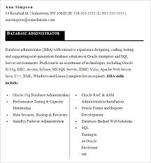 Sample Resume For Network Administrator by Sample Database Administrator Resume U2013 9 Documents In Word Pdf