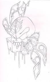 skull bones and money tattoo sketch by aishatheweirdo on deviantart