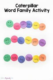 caterpillar word family activity literacy activities literacy