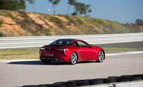 lexus lc drive 2018 lexus lc 500 red test drive rear and side view gallery photo