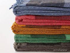Orange Sofa Throw Cotton Throw Blanket In Denim Blue Diamond Pattern Bohemian Bed