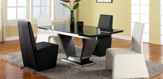 dining modern wood dining tables beautiful italian black lacquer