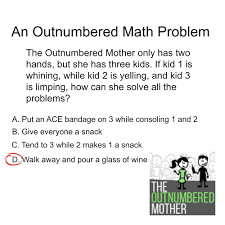 if moms wrote math problems