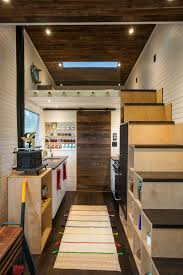 One Floor Tiny House Eco Friendly Tiny House Offers Reclaimed Style And Drawbridge Deck