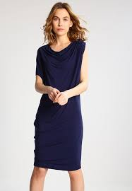 designers remix designers remix caitlyn jersey dress navy zalando co uk