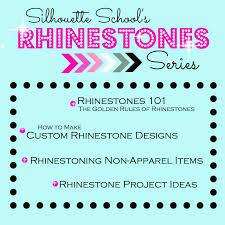 how to make custom rhinestone designs in silhouette studio