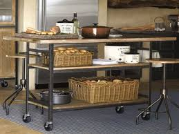 kitchen island rolling furniture industrial rolling kitchen cart island small bjs style