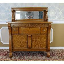 antique victorian tiger oak empire style sideboard chairish