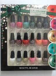 amazon com la colors 18 piece mini nail polish collection beauty