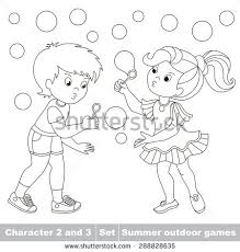 color boy playing stock vector 288828635 shutterstock
