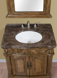 30 inch brown green single bath vanity with marble top