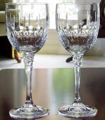 2 towle 8 5 8tiara goblets clear fine crystal cut