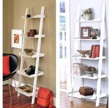 Tiered Bookshelf Bookcase Leitern White 5 Tiered Ladder Shelf Bookcase Display
