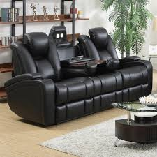 sofa winsome all leather reclining sofa motorized couch power