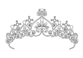 printable pictures princess crown coloring pages 54 in free