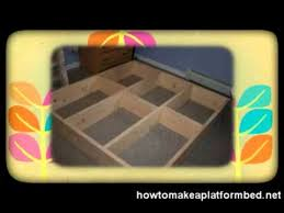 how to make a platform bed the easy way youtube