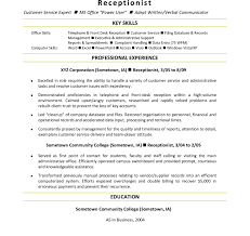 Qualities Of A Front Desk Officer Resume Template Front Desk Coordinator Sle Exles Hotel