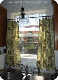kitchen curtain valances of needs kitchen curtains i like the idea of mounting them lower than the