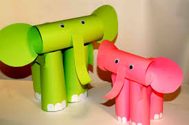 paper craft for kids elephants easy crafts youtube clipgoo