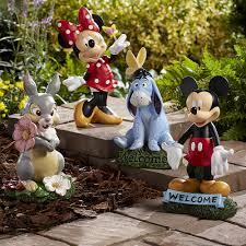 disney solar garden statues home outdoor decoration