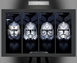 clone trooper wall display armor star wars inspired wolfpack 17x11 fine