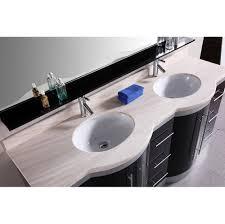 Modern Double Vanity Bathroom by Home Bath Bathroom Vanities Olivia 72
