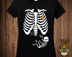 Spider Halloween Costume Pregnant Skeleton Etsy