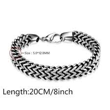 black chain bracelet images Double side snake chain bracelet american legend rider jpg