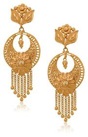 new fashion gold earrings buy senco gold 22k yellow gold stud earrings online at low prices in