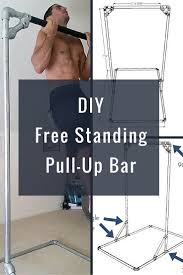 diy free standing pull up bar perfect for the crossfit home gym