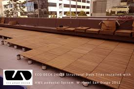 hotel decking with eco decks ipe deck tiles landscape austin