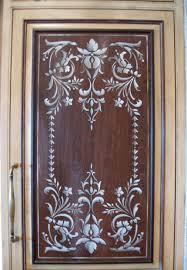 kitchen stencil ideas stenciled kitchen door panel i m thinking white background and