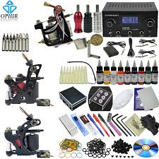 tattoo kit without machine ophir new pro complete tattoo kit 3 tattoo gun machine 30ml bottle 9