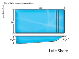 swimming pool sizes lake shore large fiberglass inground viking swimming pool