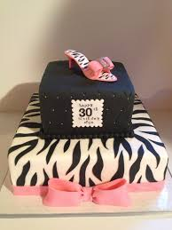 specialty birthday cakes hot pink zebra 30th birthday cake kyrsten s sweet designs