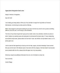 8 appreciative resignation letters free sample example format