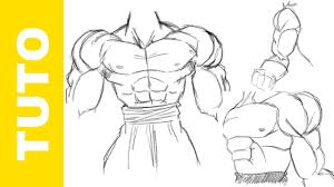 how to draw muscles dragon ball z easy tutorial youtube