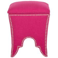 Pink Storage Ottoman Ospdesigns Pink Storage Ottoman Met804v Pb261 The Home Depot