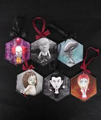 horror movies characters christmas ornaments