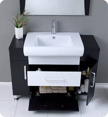 Modern Wood Bathroom Vanity Fresca Vita Modern Bathroom Vanity Dark Wood Finish
