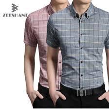 discount men casual short sleeve check shirt 2017 men casual