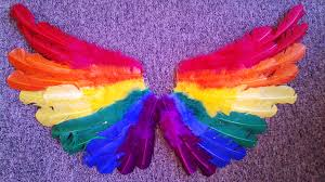halloween angel wings pride rainbow feather wings feather angel wings halloween