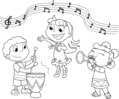 music simple music coloring pages for kindergarten coloring page