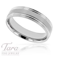 white gold mens wedding bands men s wedding band in 18k white gold 8 2 grams tara jewelry