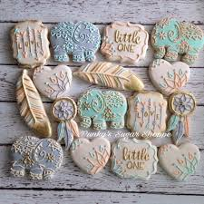 boho baby shower cookie connection