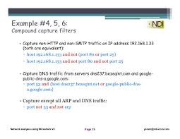 Google Public Dns Server Traffic by Network Analysis Using Wireshark 4 Capture Filters