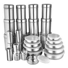 zain stainless steel storage containers 30 pcs steel