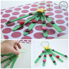 popsicle stick tree ornaments planning playtime
