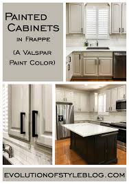 how to apply valspar cabinet paint painted cabinets in valspar s frappe evolution of style