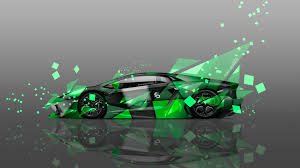 Lamborghini Aventador Neon Green - 4k wallpapers lamborghini aventador side aerography car 2014 el tony